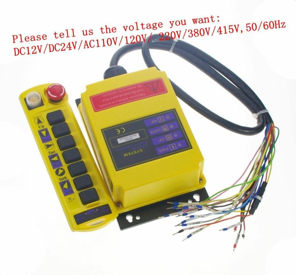 2 Speed 1 Transmitter Control Hoist Crane Remote Control System  Choose Voltage2 Speed 1 Transmitter Control Hoist Crane Remote Control System  Choose Voltage