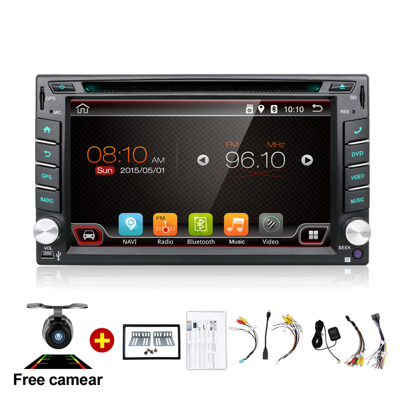 Universel 2 Din Android 7.1 Lecteur DVD de Voiture GPS + Wifi + Bluetooth + Radio + Quad 4 Core CPU + DDR3 + Écran Tactile Capacitif + 3g + Voiture PC + Audio