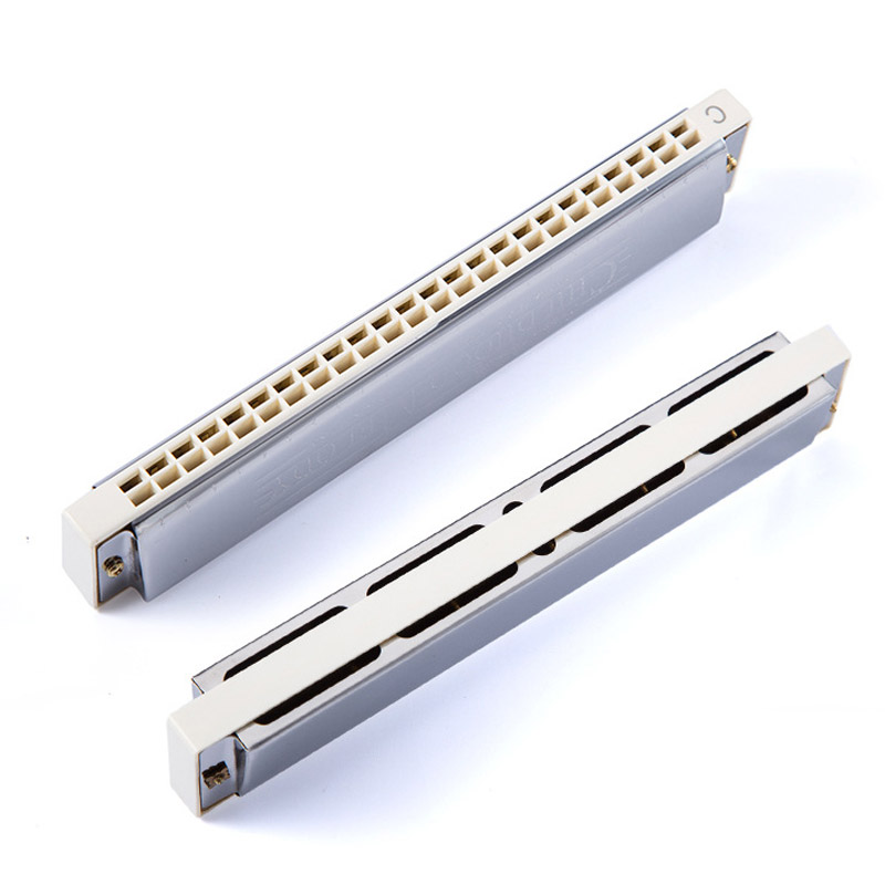 Купить с кэшбэком Harmonica Tremolo 24 Hole Key Of C Play Harmonica Mouth Organ Double Row For Blues Jazz Rock Folk Musical Beginner Instrument