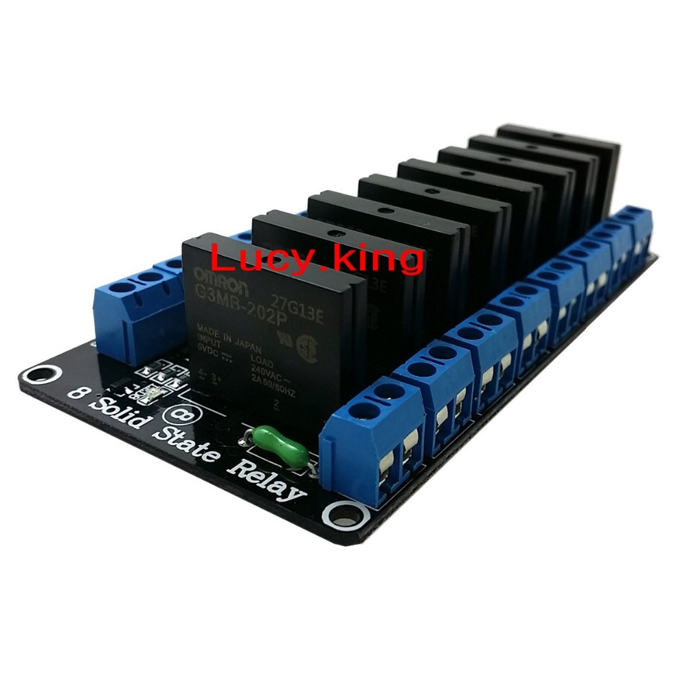8-channel , 5V high level trigger Solid State Relays with Fuse / 250V2A dc12v 10a 3 channel dmx512 relays