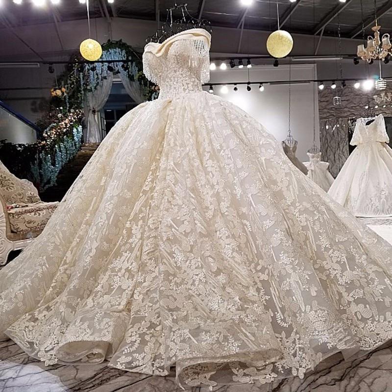 Luxury Sexy Fashion High-end Tulle Wedding Dresses 2018 Vintage Short Sleeve Beading Crystal Wedding Dresses Backlake Dress