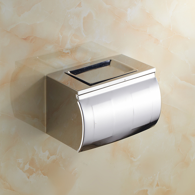 Stainless Steel Bathroom Tissue Box Holder Toilet Paper Roll Holders Wall Mounted European Kitchen