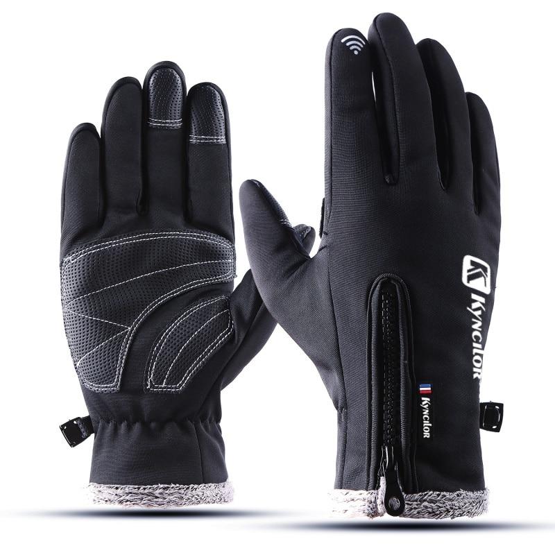 2019 Waterproof Winter Warm Gloves Men Ski Gloves