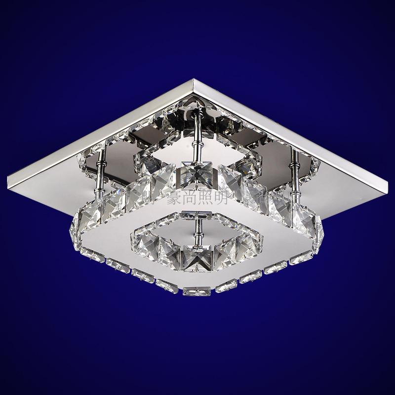 Квадратный коридор крыльцо свет лампы светодиодный Кристалл Потолочный светильник балкон ...