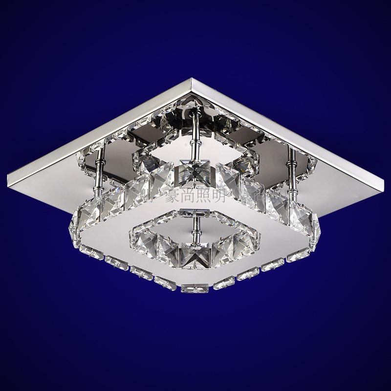 Square corridor corridor porch lamp light LED crystal ceiling lamp balcony kitchen bathroom home ceiling light wl32417