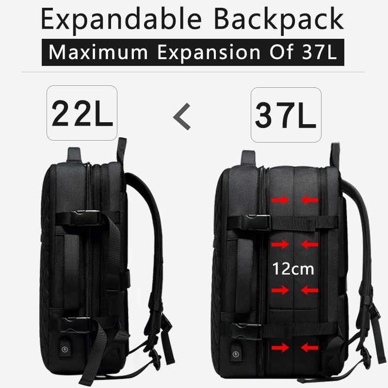 EURCOOL 2019 новый рюкзак для путешествий мужской расширяемый 12 см многофункциональная сумка для ноутбука 15,6 дюймов рюкзаки мужские Mochila n1811-7