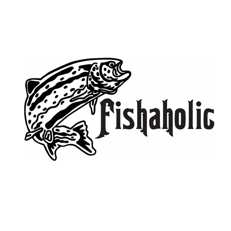 Fishing Sticker Car Bass Fish Decal Angling Hooks Tackle Shop Posters Vinyl Wall Decals Hunter Decor Mural Sticker