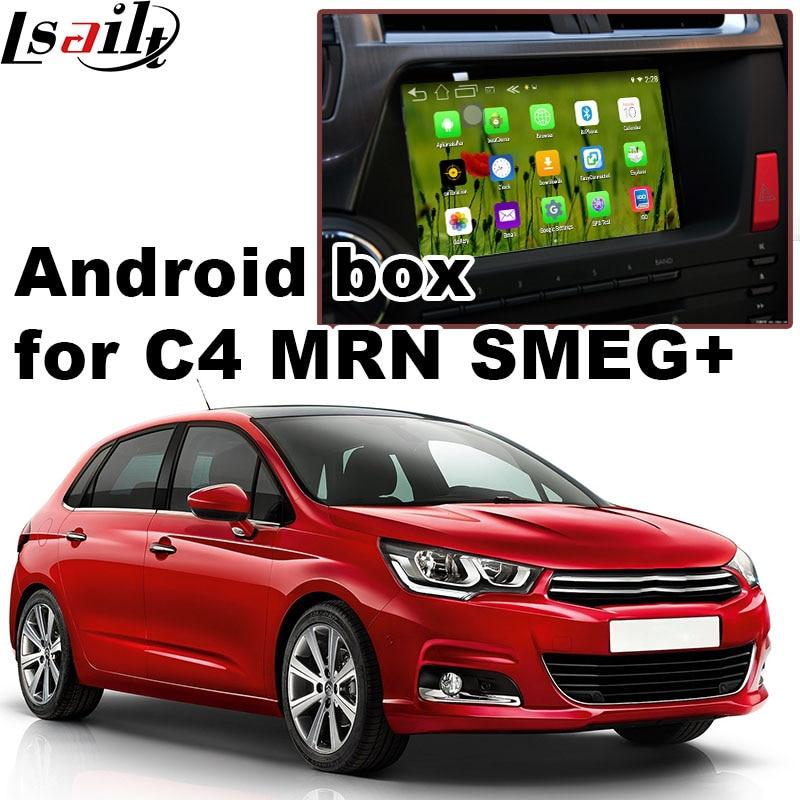 Android 6.0 GPS navigation box for Citroen C4 MRN SMEG+ system video interface box mirror link youtube waze iGO yandex rear view
