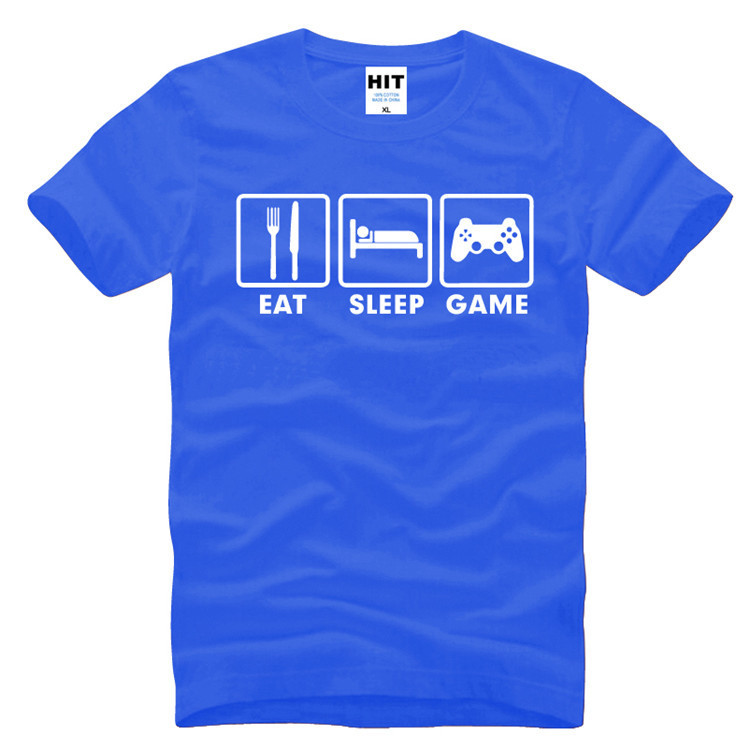 Eat Sleep Game XBOX Custom Gamer Funny Printed Mens Men T Shirt T-shirt 2017 New Short Sleeve O Neck Casual Tshirt Tee