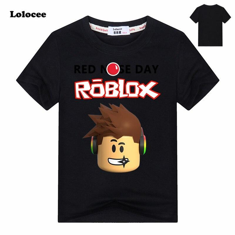 2018 neue ROBLOX ROTE NASE TAG Stardust Jungen T-shirt kinder Sommer Kleidung Kinder Spiel T-shirt Mädchen Cartoon Tops Tees 3-14Y