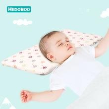 Medobbo Cotton Baby Sleeping Pillow Newborn Memory Foam Breathable Pillows Positioner Infant Nursing Cushion