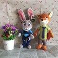 1 компл. оригинальный Zootopia плюшевые игрушки 28 см фокс ник уайлд + 30 см джуди Hopps кролик мягкие игрушки для ребенка подарок на день рождения