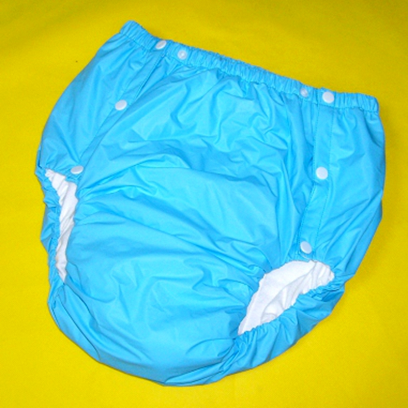 Free Shipping FUUBUU2043-Blue-XL PVC/ Adult Diaper/ incontinence pants/Adult baby ABDL