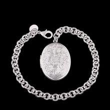 Fina del verano del estilo de plata chapada pulsera 925-sterling-silver joyería bijouterie rahmen pulseras de cadena para mujeres hombres SB349