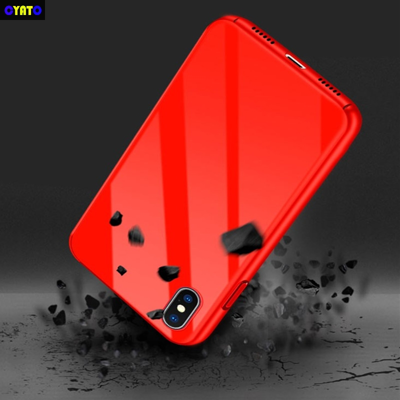 Cyato Luxury Phone Case For iPhone 8 7 6 6s s Ultra Thin Slim Cover For iPhone 8 7 6 6s Plus X Protective PC Glossy Back Shell