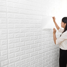 70x77cm 3D Wall Stickers decorate Self Adhesive For Kids Room Bedroom Decor Foam Brick Room Decor Wallpaper Wall Sticker