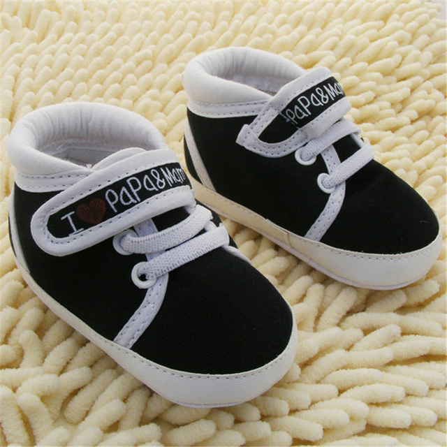 0-18M Baby Infant Kids Boy Girls Soft Sole Canvas Sneaker Toddler Newborn Shoes New 1