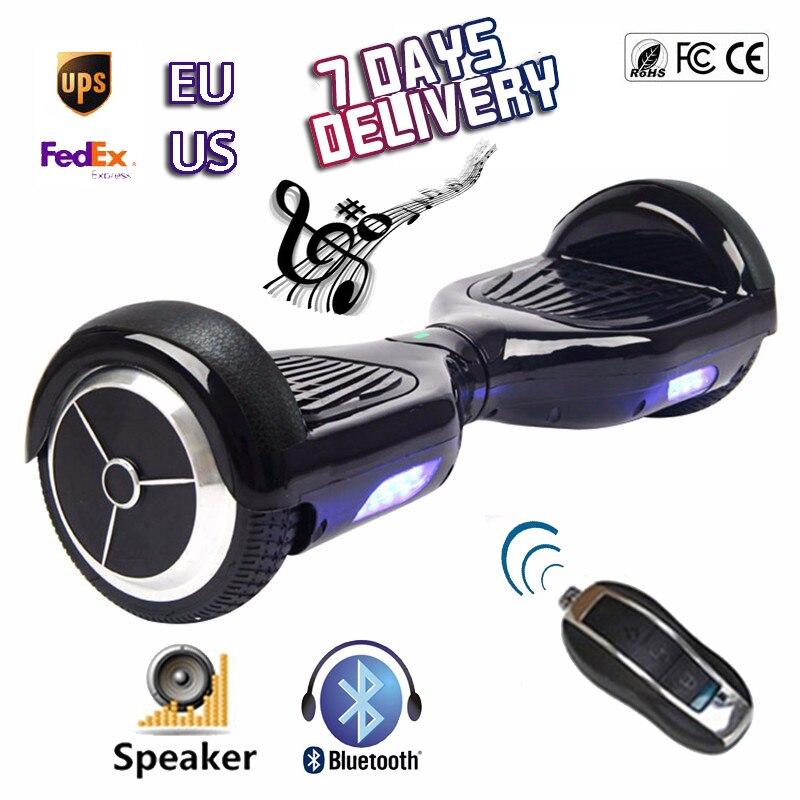 6.5 polegada 2 Rodas Auto Balanceamento Scooter Elétrico Música Do  Bluetooth Remoto Chave Mini Smart Balance Roda Pé Hoverboard Oxboard em  Scooters ... 73929ea3575