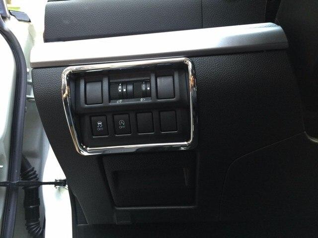 Auto interior accessories, light switch button trim  sticker for  Outback 2015