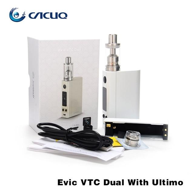 100% Оригинал joyetech eVic VTC Двойной с ULTIMO Starter Kit 75 Вт 150 Вт eVic VTC Двойной Мод 4 мл Ultimo Распылитель жидкостью vape mod
