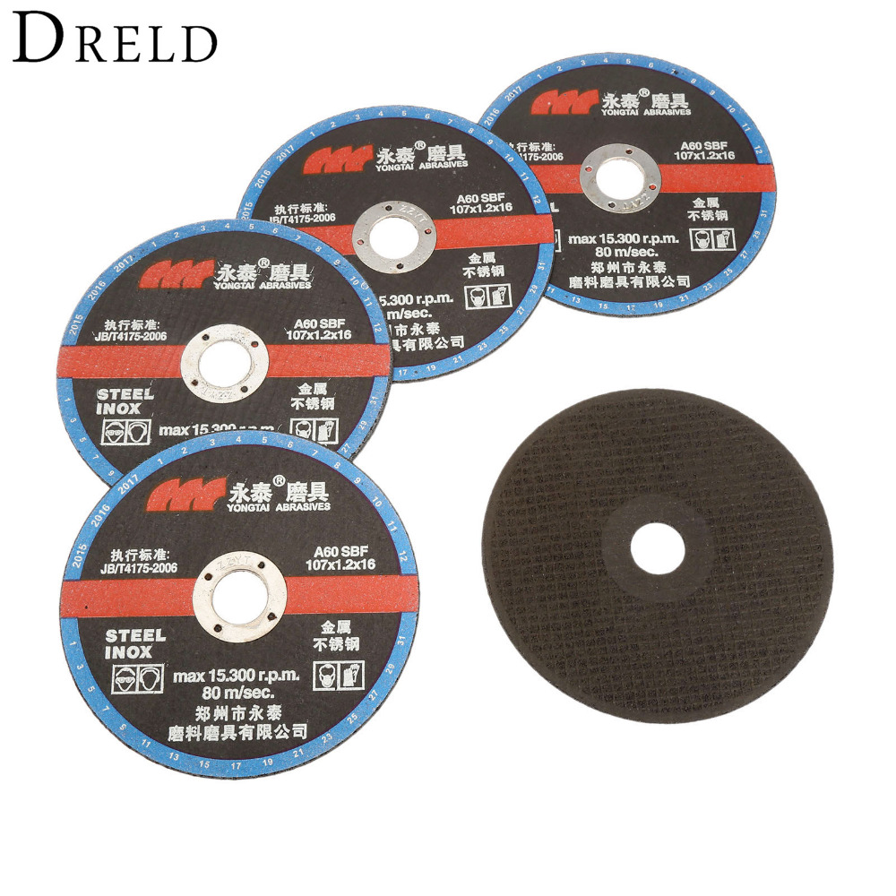 5Pcs 107mm Dremel Accesories Ultra-thin Resin Grinding Wheel Cut Off Cutter Cutting Disc For Cutting Carbon/Stainless Steel