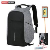 MAGIC UNION Anti Theft 15 6 Inch Waterproof Laptop Bag Fashion Mochila Security Travel Backpack Men