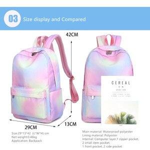Image 2 - Женский школьный рюкзак Vento Marea, розовый дорожный рюкзак для девочек подростков, сумка для ноутбука, 2019