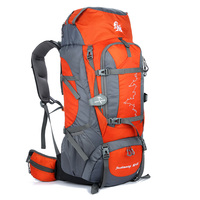 Waterproof Travelling Backpack Big Capacity 80+5L Male Camping Hiking Trekking Climbing Backpack Mochilas Masculina