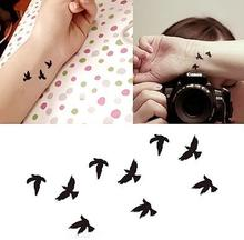 Small Fresh And Beautiful Girls Swallows Tattoo Bird Paste Tattoo Personalized Tattoo