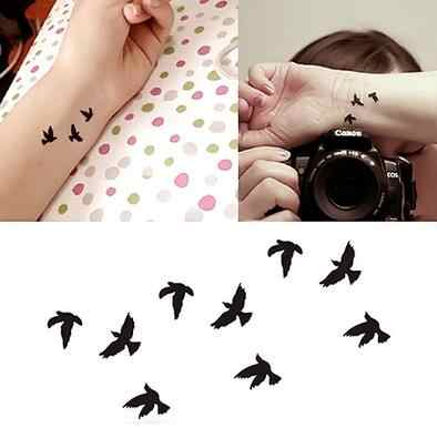 Small fresh and beautiful girls swallows tattoo bird paste tattoo personalized tattoo
