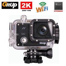 Бесплатная доставка! Gitup Git2 Pro 16MP 2 К Wifi Спорт DV Действий Камеры Мини Видеокамеры Шлем DVR