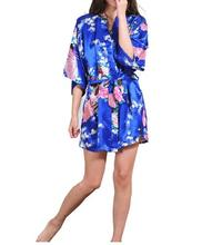 Short Kimono Robe Night Robe Bath Robe Fashion Dressing Gown For Women Women's Robe Floral Bathrobe(China)