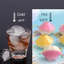 3D Diamond Shape Ice Cube Mold DIY Chocolate Jelly Fondant Mould Ice Cube Tray Silicone Baking Tools Ice Maker #ET