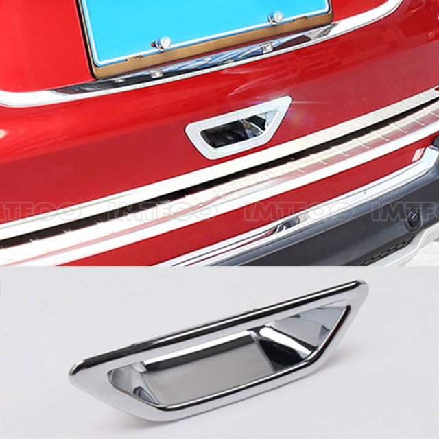 Interior Design Nissan X Trail: CHROME TRUNK BOOT DOOR HANDLE TRIM DECAL INTERIOR MOLDING