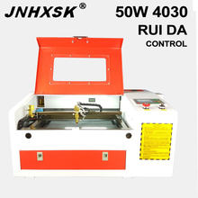 Free Shipping Russia 50w Laser 4030 CO2 Laser Engraving Machine Laser Cutting Machine 400*300mm ruida control system 50W CNC(China)