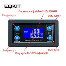 1 Гц~ 150 кГц генератор сигналов, цифровой дисплей, ШИМ, частота импульса, коэффициент рабочей нагрузки, регулируемый прямоугольный генератор сигналов квадратной волны