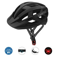 LANOVA Cycling Helmet Bike Helmet USB Rechargeable LED Lights, Bicycle Helmet Road MTB Helmet Adult Ultralight Integrally Molded