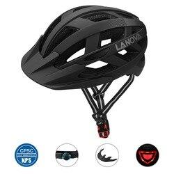 LANOVA kask rowerowy kask rowerowy LED ładowane na USB światła  kask rowerowy Road MTB kask dorosłych Ultralight integralnie formowane