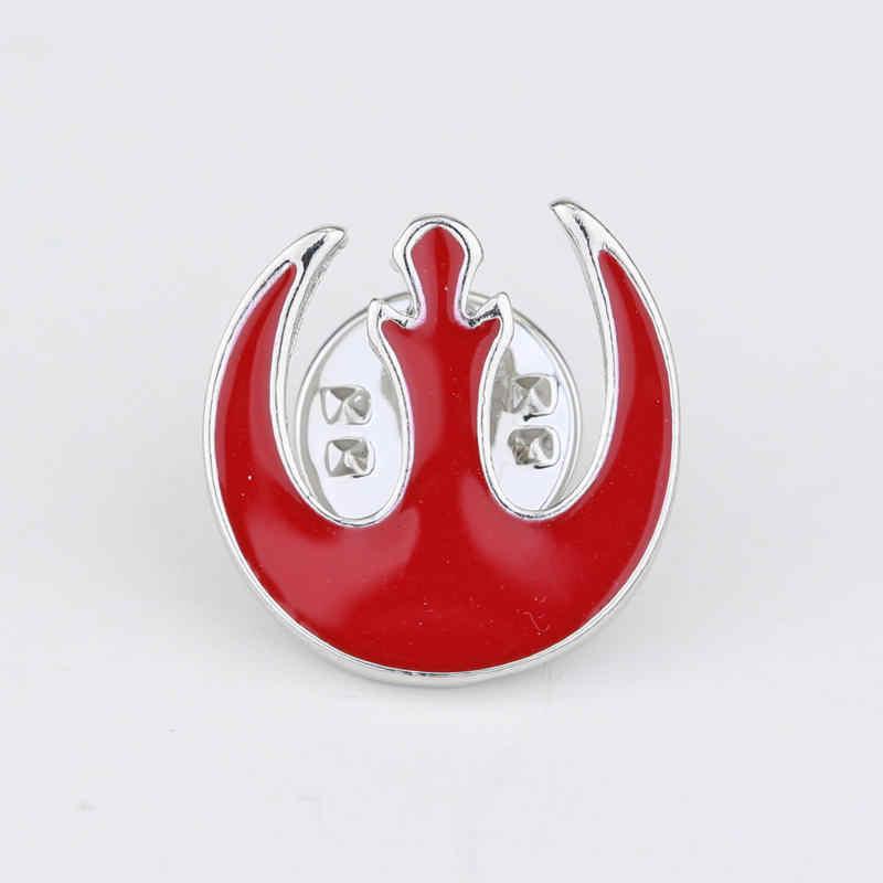 Gratis Pengiriman Star Wars Rebel Alliance Logo Bros Pin Perak Kerah Pin Lencana Dress Aksesori untuk Pria Wanita Hadiah Ulang Tahun