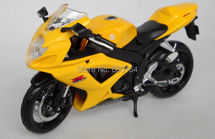 nd New Cool 1/12 Scale Motorbike Model Toys SUZUKI GSX R600 ...