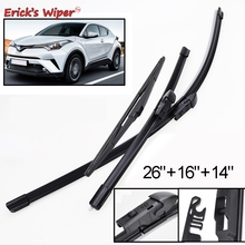 Erick #8217 s Wiper LHD Front amp Rear Wiper Blades Set For Toyota C-HR CHR 2016 2017 2018 2019 2020 Windshield Windscreen 26 #8243 16 #8243 14 #8243 cheap MISIMa High Grade Natural Rubber insures maximum performance 0 35kg cleaning windshield 2 3inch ISO9000 26inch For Toyota C-HR 2016 - 2020