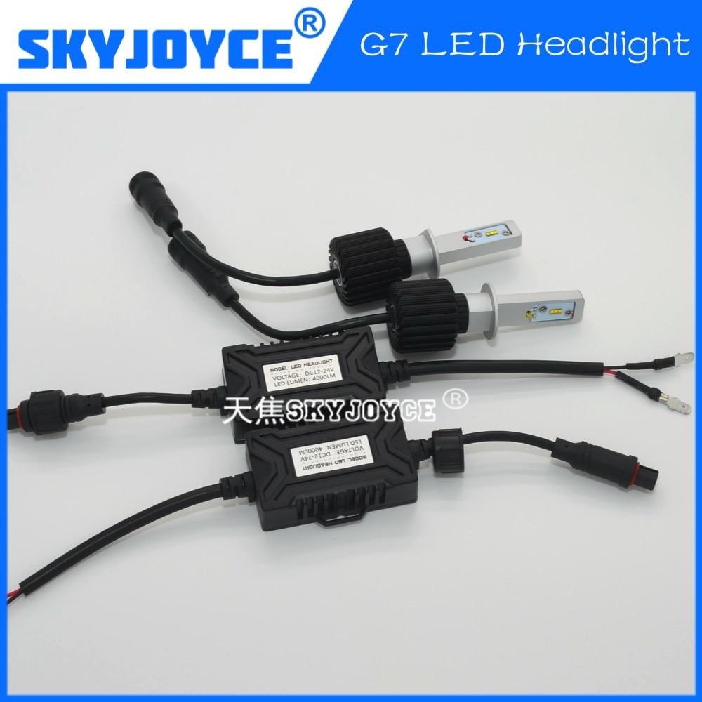 2016 NEW 12V/24V Car LED Headlight H1 H7 9005 9006 H9/H11 H4 H13 9004/9007 G7 led auto headlight super bright 4000LM 12v led light auto headlamp h1 h3 h7 9005 9004 9007 h4 h15 car led headlight bulb 30w high single dual beam white light