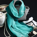 Genuine Silk Women Scarf Fashion Classic Green Gradient Scarves 2016 Summer Autumn Winter Good Quality Necklace Shawl