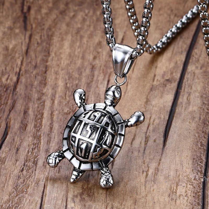 Mprainbow fashion mens sea turtle pendant necklace for male vintage mprainbow fashion mens sea turtle pendant necklace for male vintage stainless steel colares jewelry health and longevity 24inch in pendant necklaces from aloadofball Gallery