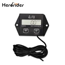 For Motorcycle Car Boat Digital Engine Tachometer Tach Hour Meter Digital Tachometer Gauge Inductive Rpm Meter LCD Display