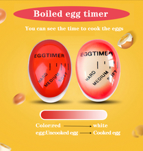1pcs Egg Perfect Color Changing Timer Yummy Soft Hard Boiled Eggs Cooking Kitchen Eco-Friendly Resin Red timer tools