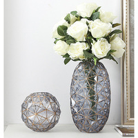 Modern Creative transparent glass vase Wedding Vases for Flowers living room home table decoration ornaments