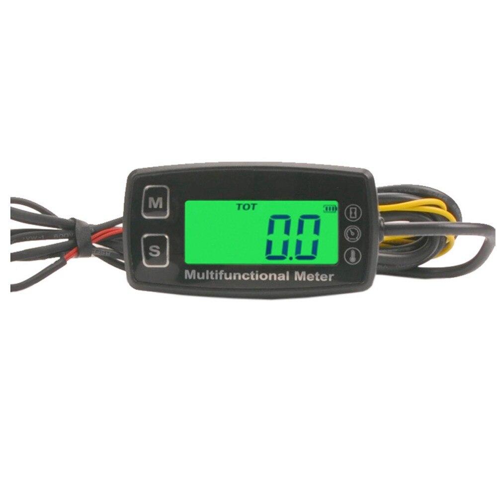 BRAPILOT Digital Tach Maintenance Hour Meter Tachometer Thermometer Temperature Gauge with Backlit for ATV UTV Dirt Bike Motorcycle Outboards Snowmobile Generator Mower PWC Marine Boat.