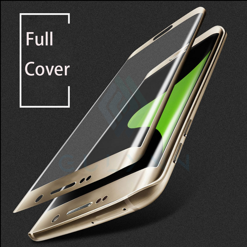 HOT New Arrive 3D SURFACE Curved Cambered Full Coverage Film Screen Protector For Samsung Galaxy S7 G9350 Edge GLASS