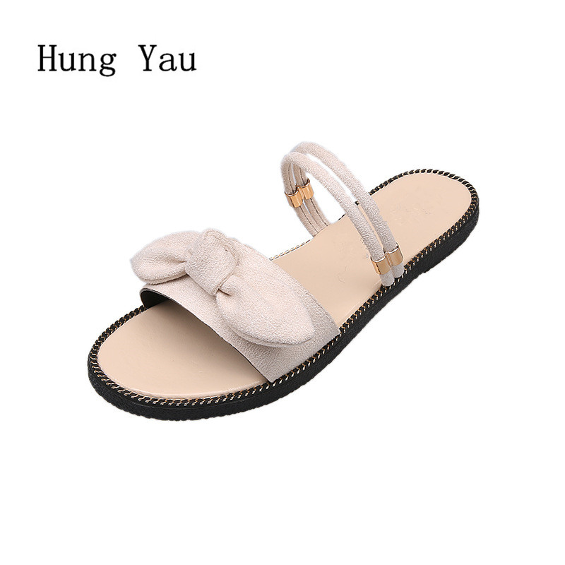 Women Sandals Slippers 2018 Summer Shoes Woman Flip Flops Wedges Fashion Butterfly-knot Platform Female Slides Ladies Shoes women sandals flip flops 2018 new summer fashion rhinestone wedges shoes woman slides crystal bohemia lady casual shoes female